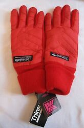 Vintage Gloves Thinsulate Red Small New Old Stock $11.25