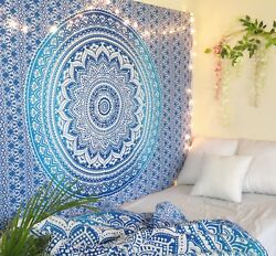Mandala Indian Traditional Hippie Cotton Wall Tapestry Bohemian Ombre Bedspread $14.99