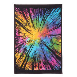 Indian Multi Tie Dye Dark Forest Painted Wall Poster Hippie Wall Decor Tapestry $6.49