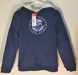 Roxy Big Girl's Memorize Density Fleece Lined Hoodie Navy XXL (16)