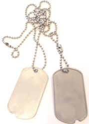BLANK DOG TAGS Vintage Genuine Military Issue quot;WITH NOTCH MILITARY DOG TAGS $5.98