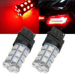 2Pcs 3157 Red 18SMD 5050 LED Reverse Back Up Brake Stop Turn Tail Light Bulbs $7.01
