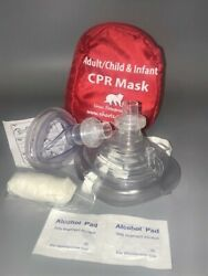 CPR mask in Soft case wGloves - AdultChild and Separate Mask for Infants