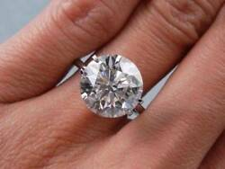 5.00 Ct Round Cut DVVS1 Diamond 14K White Gold Fn Solitaire Engagement Ring