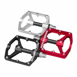 ROCKBROS Bike Pedals Bicycle Carbon Fiber DU Sealed Bearing Alu Cycling Pedals $26.99