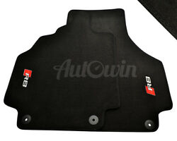Audi R8 2008-2014 Black Floor Mats With R8 Logo With Clips LHD Side EU Model $199.00