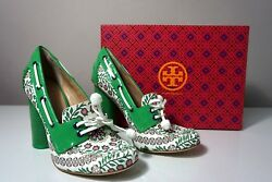 Tory Burch Garden Party Fisher 110mm Loafer Pump Size 7.5