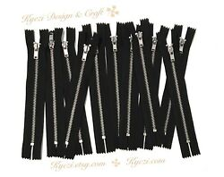 3 5 10 pcs Black Metal Teeth  Zippers 4
