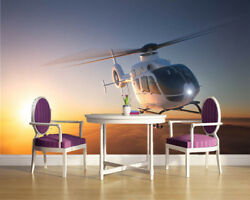 Small Helicopter 3D Full Wall Mural Photo Wallpaper Printing Home Kids Decor AU $219.99