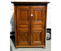 Antique and Important Eighteenth-century Lombard Wardrobe in Walnut