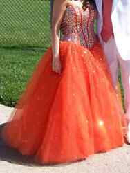 ORANGE PROM DRESS MORI MARI LEE BY MADELINE GARDNER