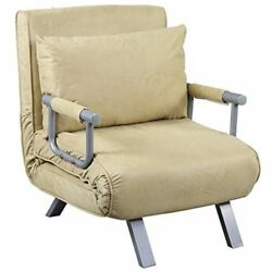 Folding Sleeper Flip Chair Convertible Sofa Bed Lounge Couch Pillow 5 Position
