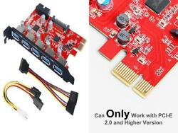 Inateck PCI E to USB 3.0 5 Ports PCI Express Card and 15 Pin Power... $31.58
