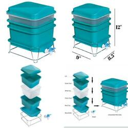 4 Tray Worm Factory Farm Compost Small Compact Bin Set $61.29