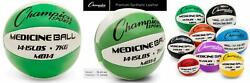 Champion Sports Exercise Medicine Balls 8 Sizes Leather 14 15 Lbs Green $45.43
