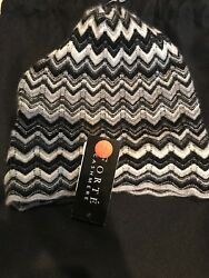 Forte Cashmere Fingerless Gloves And Hat Set $226 Nwt