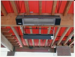Sunpak patio heater Stainless Steel S 25 Gas Hanging Infrared Dynamics  $1,507.00