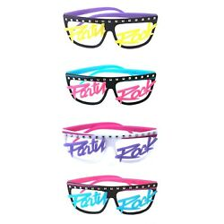Men#x27;s Womens Novelty 80s LMFAO Party Rock Glow in the dark no Lenses Eye Glasses $8.95