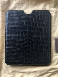 $13000 New Louis Vuitton Black Crocodile iPad iPhone Case Cover #N90943