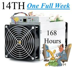 168 Hours 1 Full Week Bitcoin Mining Contract 14THs SHA256 S9i Antminer