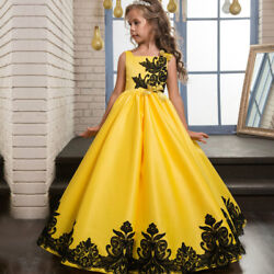 Flower Girl Dress Princess Formal Birthday Pageant  Party Bridesmaid Gown ZG8
