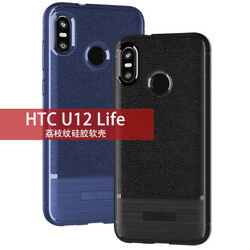 For HTC U12 U11 Life D12 Desire Plus Shockproof Silicone TPU Leather Case Cover