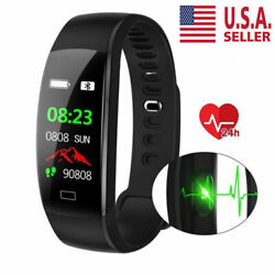 Smart Watch Band Heart Rate Oxygen Blood Pressure Fitness Tracker Activity Lot