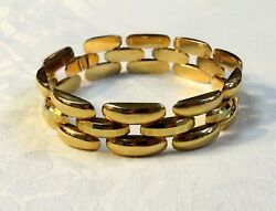 Fine Estate Jewelry 18 K Yellow Gold Panther Link Bracelet