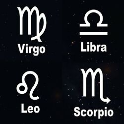 Zodiac Sticker Astrology Sign With Title Word Decals $3.41