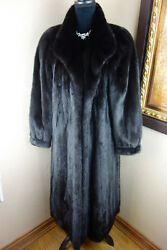Excellent XL Plus 1x Black Mink Fur Jacket Coat 3572s