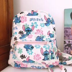 liloamp;stitch white stitch 8.5quot; adult kids backpack shoulder bag bags anime $14.99