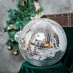 16quot; Large Silver Glass Hanging Disco Mirror Ball Wedding Party Decorations SALE $41.21