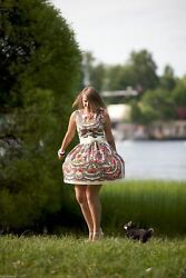 Russian style summer Dress. Designer Clothing. Exclusive. Individual tailoring