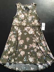 O'NEILL Green Floral Dress Size Medium 8 10 Big Girls Beach Summer Oneill $19.99
