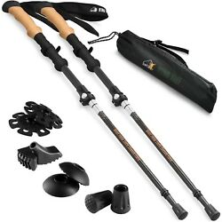Ryno Tuff Trekking Poles Carbon Fiber Hiking Pole Set of 2 Walking Sticks $39.99