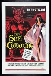 THE SHE CREATURE ✯ CineMasterpieces HORROR SCI FI MONSTER MOVIE POSTER 1956