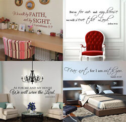 Bible Verse Wall Decals Christian Quote Vinyl Wall Art Stickers Scripture Decor $6.90