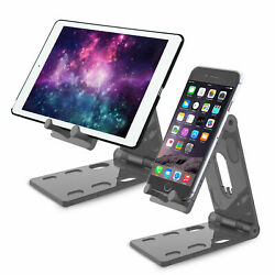 For Apple iPad ProAiriPhone Adjustable Angle Aluminum Desk Tablet Holder Stand $8.97