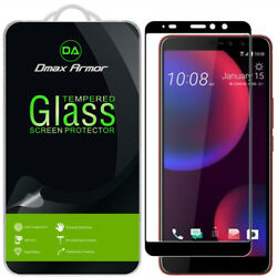 2x Dmax Armor Tempered Glass Full Cover Screen Protector for HTC U11 Eyes (Black $8.49