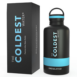 The Coldest Water 64 oz Stainless Steel Double Walled Sports Bottle