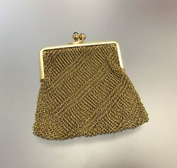 18k Gold Antique Chainmaille Miniature Mesh Coin Purse Chatelaine 750