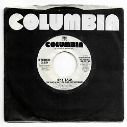 She Was Always On Time (Not Anymore) - Shy Talk-Columbia 1985 - NM-DJPromo Copy