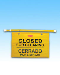 English amp; Spanish Rubbermaid Commercial Hanging Safety Sign 290408EA