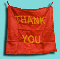 THANK YOU BAG TO SILK Change Magic Trick Stage Appearing Banner Sign Blendo Gag $21.99