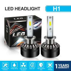 TURBOSII H1 COB LED Headlight Kit 30W 6000LM High Beam Bulb Xenon 6500K