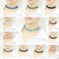 Fashion Jewelry Candy Color Velvet Choker Chunky Statement Bib Necklace Chain