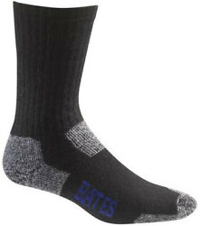 Bates Footwear Utility Crew Black 2 Pk Large Socks Made in USA FREE USA SHIPPING $15.95