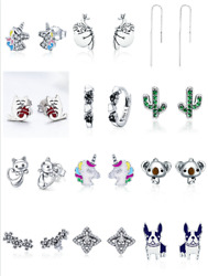 Christmas Unicorn Dream And Catcher Earrings Charm Women Bracelet Necklace Chain