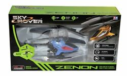 Sky Rover Zenon RC Helicopter Vehicle with Lights and Gyro Blue Toy Unisex New $19.99