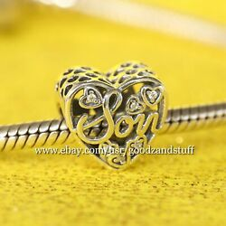 Mother and Son Bond Authentic Pandora Silver with CZ Charm 792109CZ